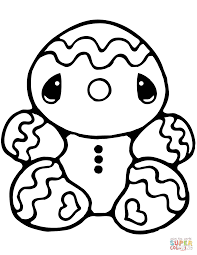 Tiny Gingerbread Man Coloring Page Free Printable Coloring Pages