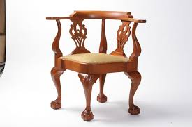 Chippendale Furniture Handmade Chippendale Mahogany Corner Chair By W Mickey Callahan