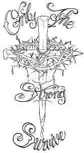 Nail Cross With Crown Of Thorns
