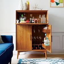 Mid Century Bar Cabinet Large Modern Living Rooms Pinterest Regarding Decor  9 Bar Cabinets For Sale8