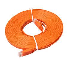 Xbox Power Supply Amber Light 15m Orange Flat Rj45 Cable Ethernet Cat6 Internet Network