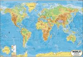 World Map Posters World Map Physical Wall Chart Paper Print