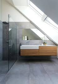 concrete tiles bathroom modern bathroom with large concrete tiles on the floor and walls new decorating concrete tiles