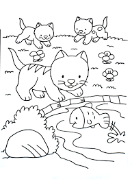 Any donation will be greatly appreciated and will help to support my production of videos and all activities for this site. Cute Coloring Page With Kittens Cats Kids Coloring Pages