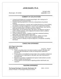 Psychology Resume Examples Simple Psychology Resume Examples Of Resumes Shalomhouseus