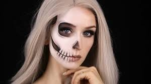 07 55 faded half skull glam makeup tutorial