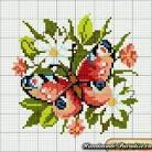 Схема вышивки на которой бабочки