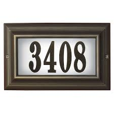 home address plaques. Brilliant Home Address Plaques With Light Design