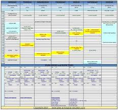 Vacation Spreadsheet Under Fontanacountryinn Com