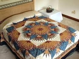 blue and brown quilt bedding king