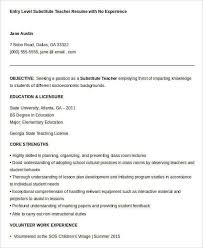 Substitute Teacher Resume Fascinating 60 Substitute Teacher Resume Examples Free Resume