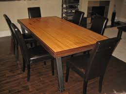Custom Made Dining Table, Iron & Reclaimed Bowling Lane