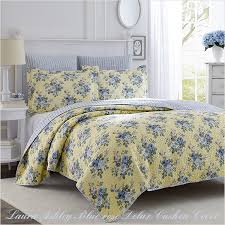 laura ashley laura ashley blue rose quilt delux cushion 65x65cm set of 2