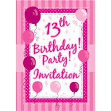 13th Party Invitations Teen Birthday Invitations Party Delights