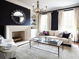 Navy Grey And White Living Room