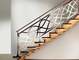 Stainless steel railing / with bars / indoor / for stairs - DECOR