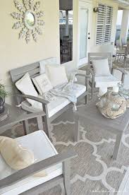 gray outdoor patio set. how to refinish a patio set - have worn and weathered wooden that gray outdoor i