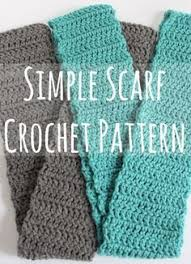 Easy Crochet Scarf Patterns For Beginners Free Interesting Simple Scarf Crochet Pattern Recipe DIYcrochet Knitting