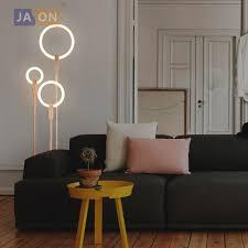 Us 19565 9 Offnordic Führte Holz Eisen Acryl Ring Led Lampe Led Licht Led Stehleuchte Licht Für Foyer Esszimmer Schlafzimmer Shop In Stehleuchten