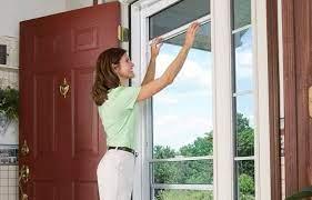 how to remove screen from storm door