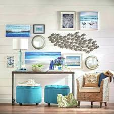 large metal coastal wall art