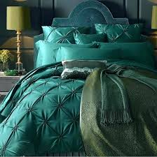luxury french country duvet cover vintage fl birds cotton jacquard 3 piece bedding set in grey