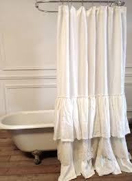 bella lace ruffle shower curtain on