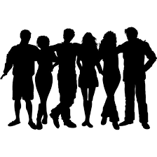 group of people clipart black and white. Beautiful People Vector Silhouettes Group Of Friends  Free Art Inside Group Of People Clipart Black And White