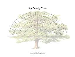 Fan Family Tree Charts Templates 6 Generation Fan Family Tree Template Family Tree Designs