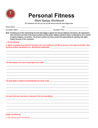 Personal Fitness Merit Badge Chart Personal Fitness