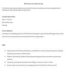 Amazing Career Objective For Resume Mechanical Engineer