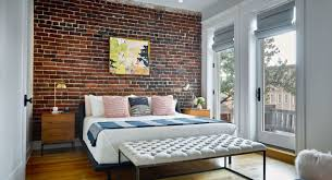 30 good looking bedrooms with exposed brick walls