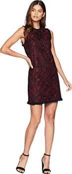 Kensie Clothing Size Chart Kensie Womens Lace Lines Dress Ks9k8291 Cherry Bark Combo