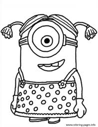 Small Picture Little Girl The Minion Coloring pages Printable