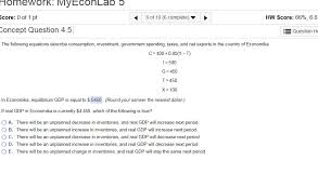 question the following equations describe consumption investment government spending ta and net exp