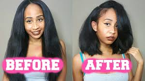 HOW TO CUT A WIG INTO A BOB TUTORIAL (EASIEST METHOD ...