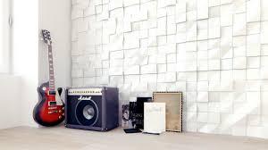 quadrat gypsum plaster 3d wall panels