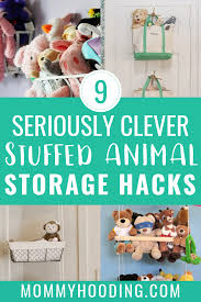 are you drowning in your children s stuffed animals here are 9 stuffed animal storage ideas