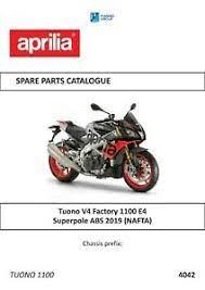 aprilia parts manual book 2019 tuono v4