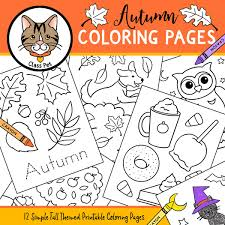 Tracing offers excellent fine motor skills practice as well. Fall Coloring Pages Madebyteachers