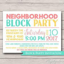 Block Party Flyer Neighborhood Block Party Invitation Announcement Invite Card