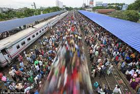 Image result for most crowded free train bangladesh railway