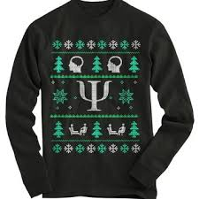 Psychologist Ugly Christmas Sweater from Gnarly Tees