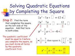 how do you solve the quadratic equation