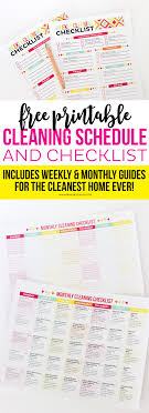 Free Printable Cleaning Schedule And Checklist - Printable Crush