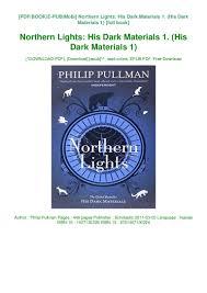 Northern Lights Book Pdf Download Ebooks Download Northern Lights His Dark Materials 1 His