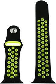 <b>Ремешок для часов Eva</b> для Apple Watch 42mm Черный/Зеленый ...