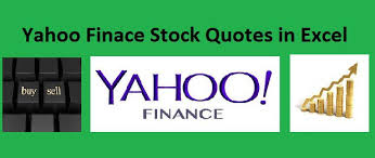 Yahoo Finance Quotes Beauteous Auto Import Stock Quotes From Yahoo Finance With Excel Vba Amarindaz