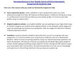 coursework writing assignment help services at homework bureau homeworkbureau is your quality source of online homework assignment academic help 3