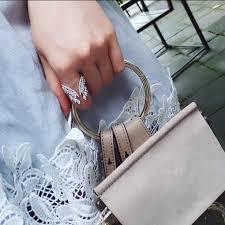 <b>Trendy Women's Jewelry Cubic</b> Zircon Butterfly Wings Adjustable ...